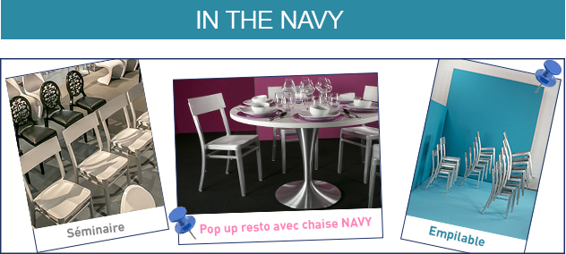 Chaise NAVY chez AKTUEL