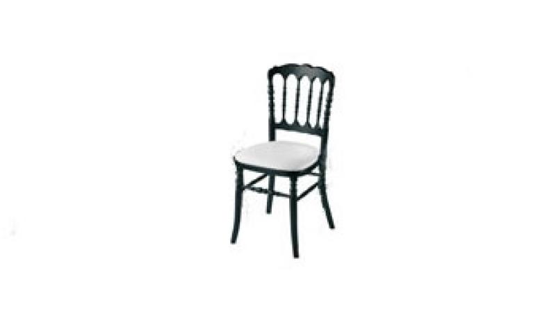 Chaise Napoleon Noir Blanc