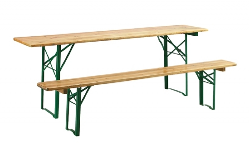 Location table et banc brasserie for Banc de table en bois