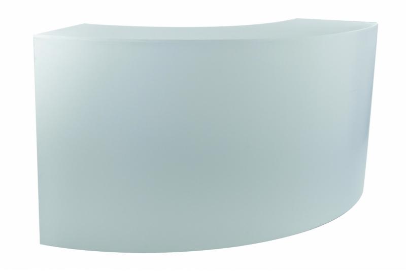 Location comptoir quart de rond lackfolie for Table quart de rond
