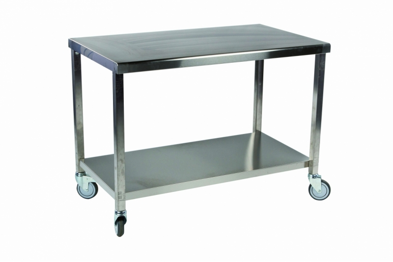 Table inox a roulette table de cuisine for Table de cuisine inox