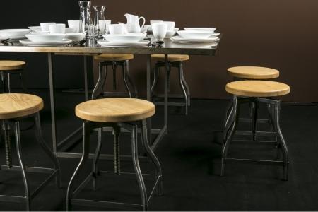 location tabouret gunmetal vis. Black Bedroom Furniture Sets. Home Design Ideas
