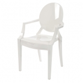 Fauteuil Louis Ghost - blanc