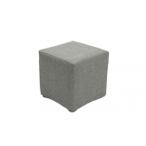 Pouf carré Tweed - gris