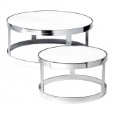 Tables Berlin chrome - blanc