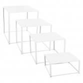 Tables Kadra - 100 x 100 cm - blanc