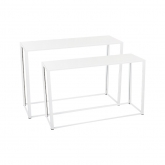 Tables Kadra - 150 x 50 cm - blanc