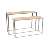 Tables Kadra - 150 x 50 cm - bois & chrome
