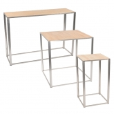 Tables Kadra H105 - bois & chrome