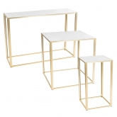 Tables Kadra H105 - marbre & laiton