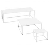 Tables Kadra H45 - blanc