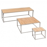 Tables Kadra H45 - bois & chrome
