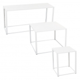 Tables Kadra H73 - blanc