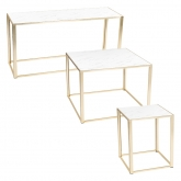 Tables Kadra H73 - marbre & laiton