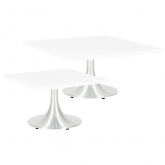 Tables basses Stacy carrées - blanc