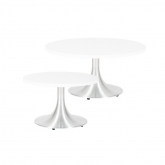 Tables basses Stacy rondes - blanc