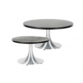 Tables basses Stacy rondes - noir