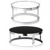 Tables Berlin chrome ronde