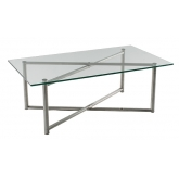 Table basse en verre Steel