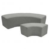 Poufs quart de rond Tweed - gris